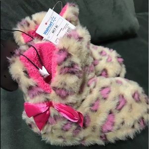 Other - Leopard and Pink Toddler Slippers